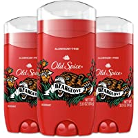 Old Spice Aluminum Free Deodorant for Men, Bearglove, 48 Hour Protection, 3 Oz, Pack Of 3