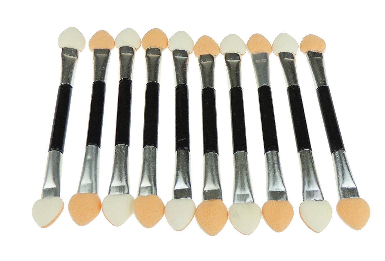 Glamour Girlz 10 Pack of 7cm Double Ended Eye Eyeshadow Makeup Sponge Applicators