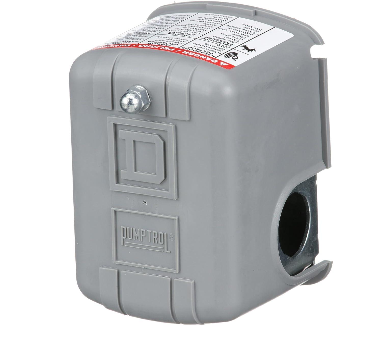SQUARE D 9013GHG2J51R Pressure Switch,DPST,100//80 psi,Reverse