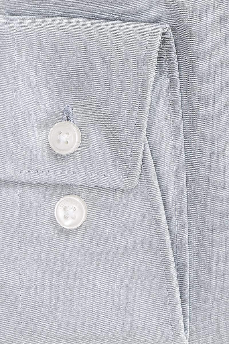 OLYMP Herren Hemd Comfort Fit Langarm Grau