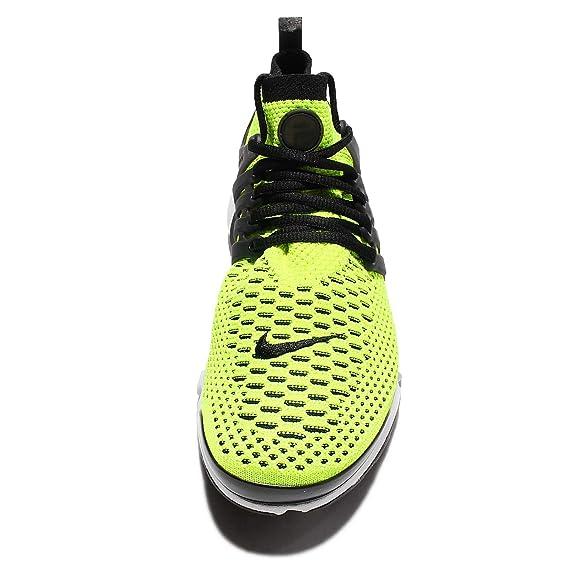 best service f0b92 e3cbb Amazon.com  Nike Air Presto Ultra Flyknit 835570-701 Volt White Black Men s  Running Shoes (Size 8)  Sports   Outdoors