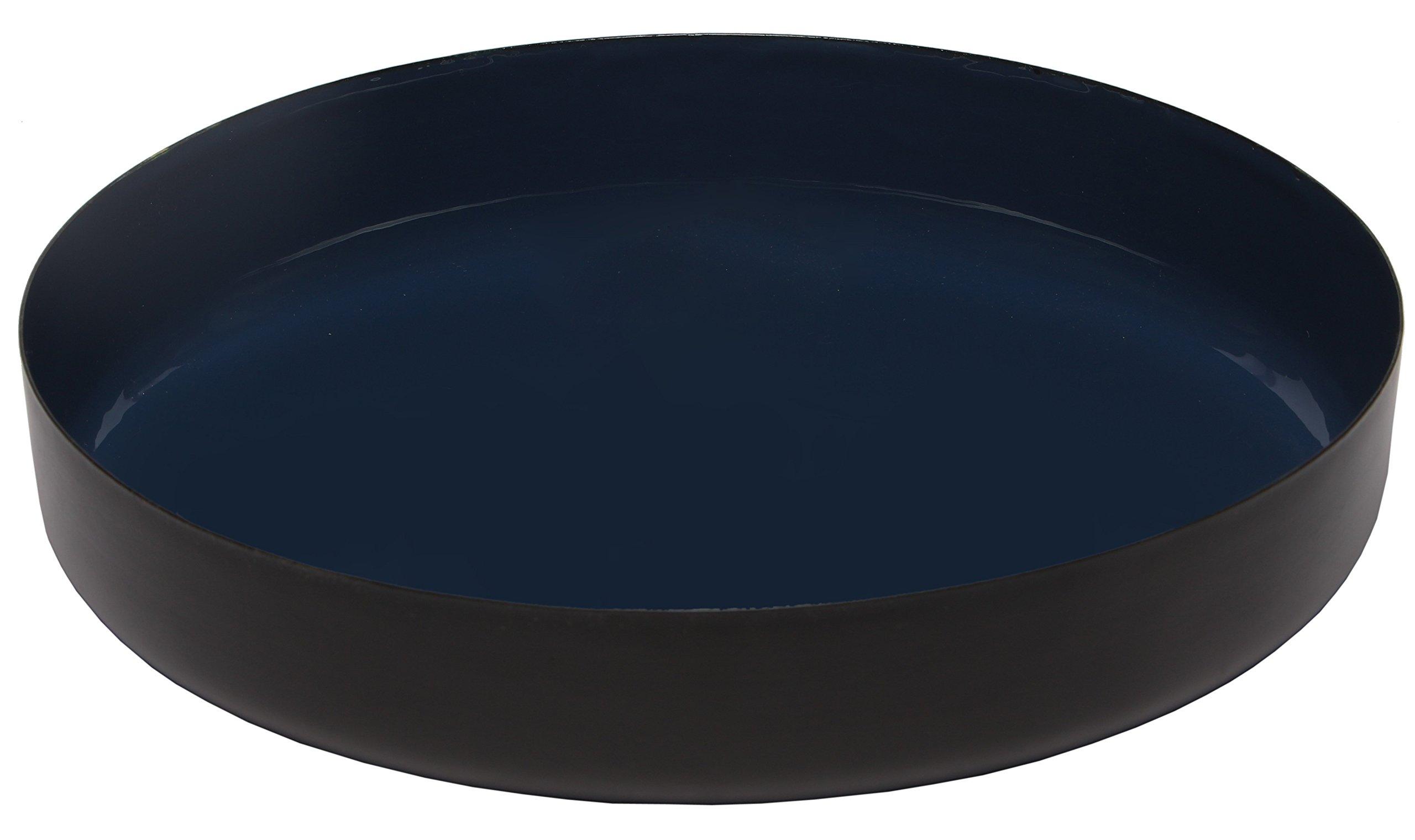 Melange Home Decor Modern Collection, 12-inch Round Platter, Color - Navy