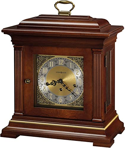Howard Miller Thomas Tompion Mantel Clock 612-436 Windsor Cherry with Key-Wound, Triple-Chime Movement