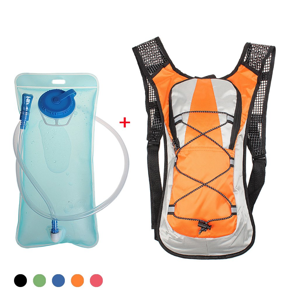 Hydration Backpack,xhorizon TM SR Unisex Cycling Bicycle Backpack Camelback Water Rucksack Backpack Bike Outdoor Sport Bladder Bag Hiking Climbing Pouch - Blue + 2L Hydration Bladder