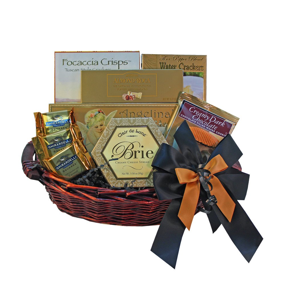 With Heartfelt Sympathy Gourmet Food Gift Basket - Small SUMMER by Art of Appreciation Gift Baskets