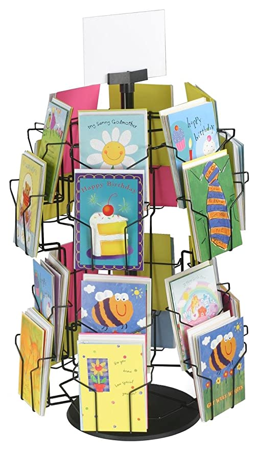 Amazon greeting card display stand with 24 5 x 7 pockets for greeting card display stand with 24 5 x 7 pockets for countertop use m4hsunfo