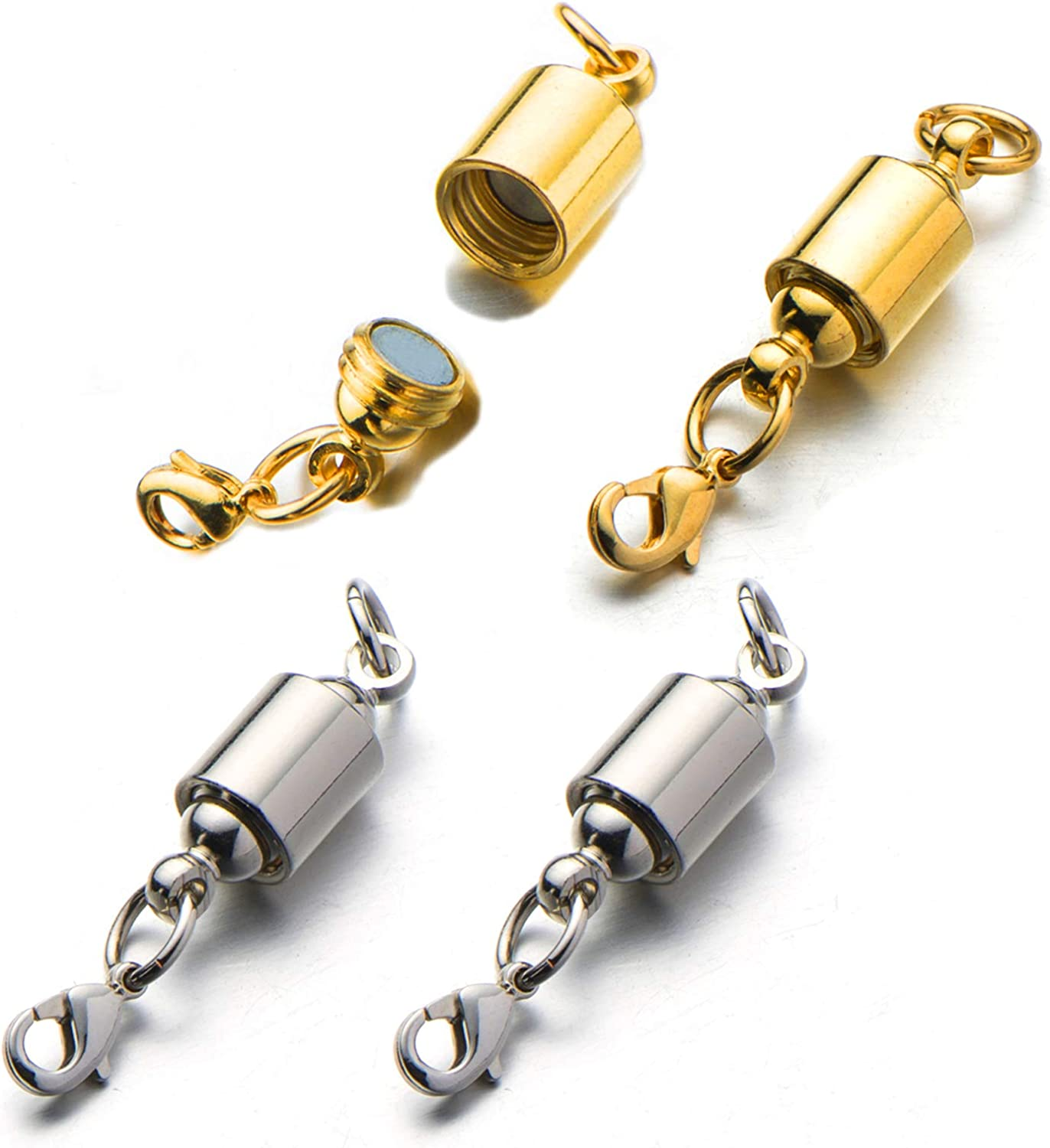 Magnetic Gold Silver Tone Brass Clasps Jewelry Fastener Lobster Claw Clasp