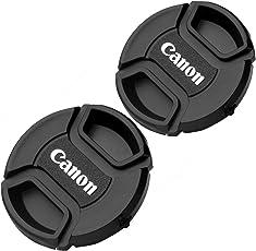 2 PCS 58mm Lens Cap For Canon Replaces E-58 II