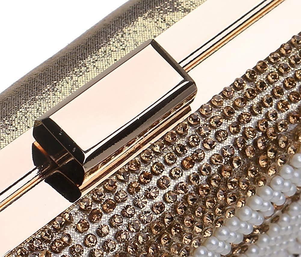 LEOO Frauen-Abend-Umschlag-Handtaschen-Partei-Brautkupplungs-Geldbeutel-Schulter-Crossbody-Bag (Farbe : C) B