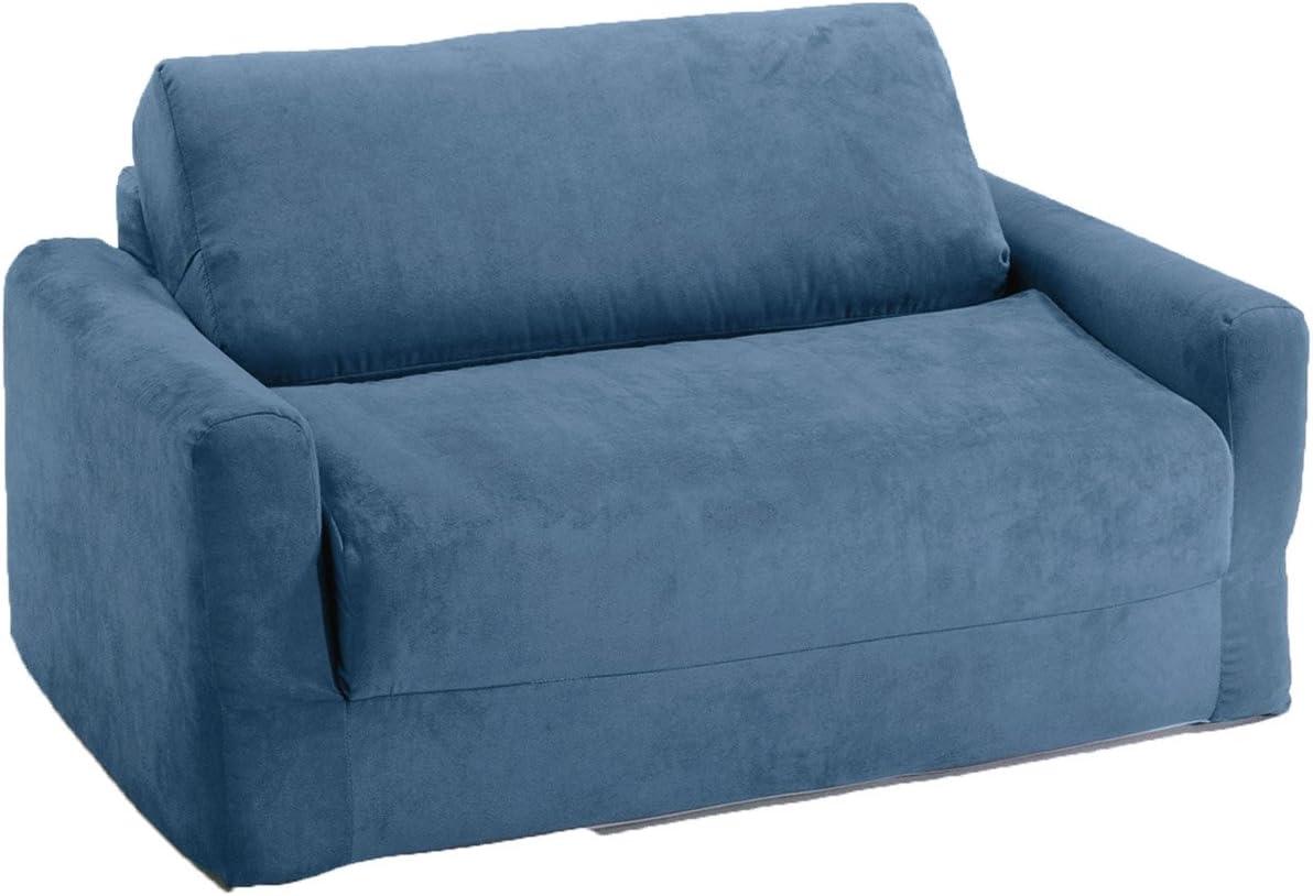 - Amazon.com: Fun Furnishings Sofa Sleeper, Blue Micro Suede