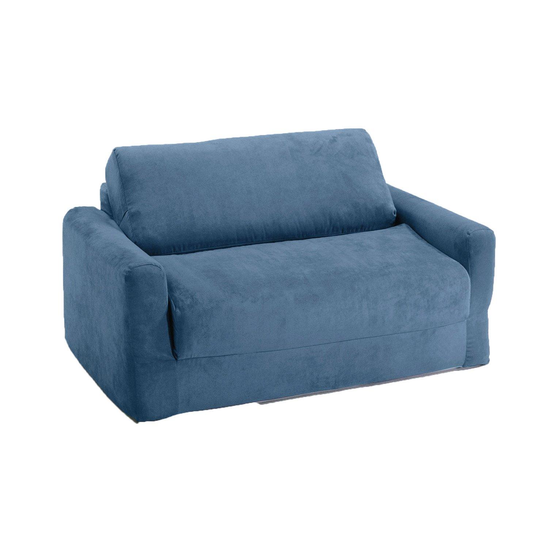 Fun Furnishings Sofa Sleeper, Blue Micro Suede by Fun Furnishings