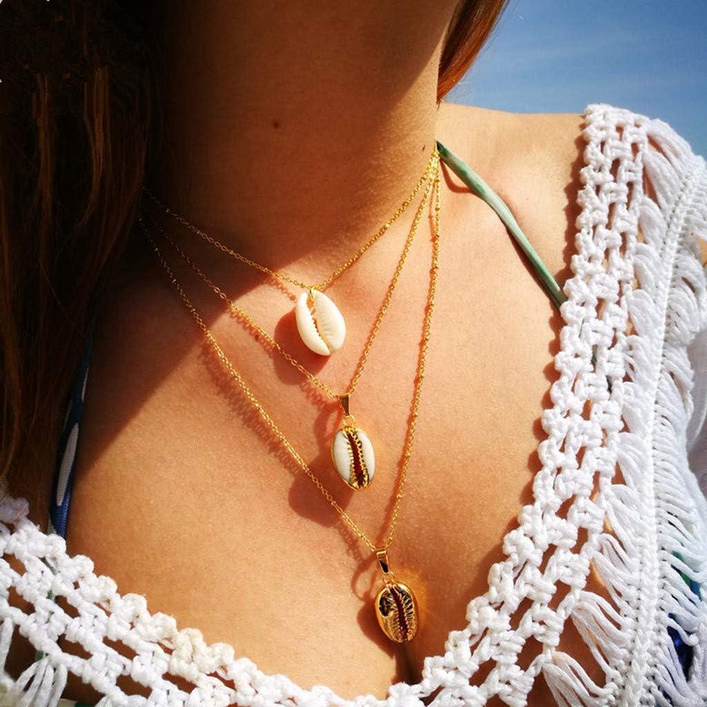 Necklace,Voberry Women Love Multilayer Irregular Pendant Chain Statement Necklace