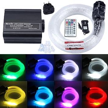 JennyHedy 16W RGBW LED Luces de Techo de Fibra Óptica de ...