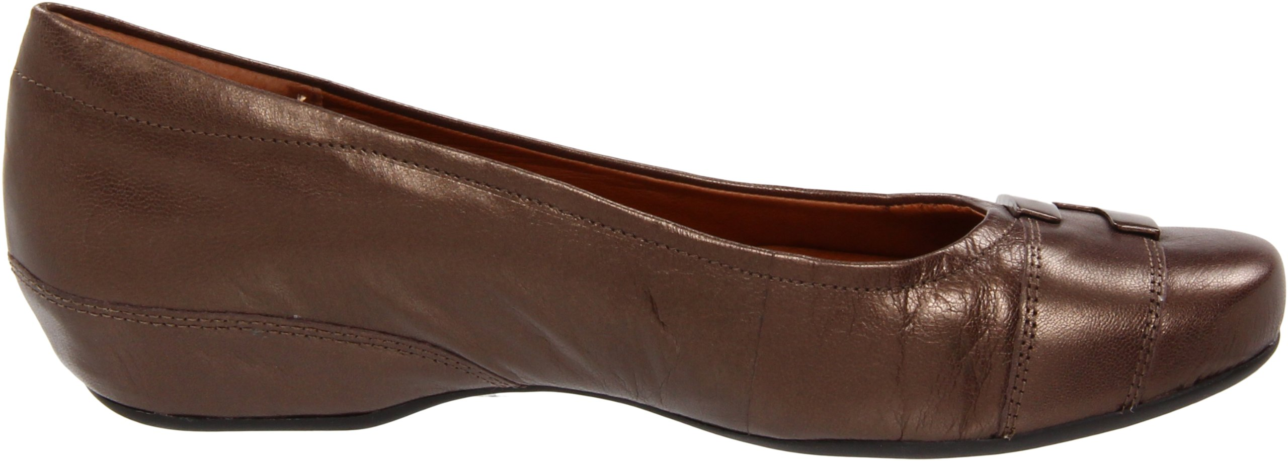 Clarks Women's Concert Choir Dress Shoes,Brown Metallic Leather,5 M US by CLARKS (Image #6)