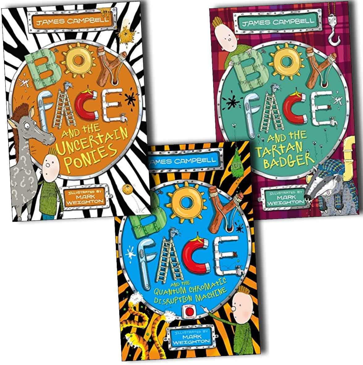 James Campbell Boyface 3 Books Collection Pack Set (Boyface and the Quantum Chromatic Disruption Machine, Boyface and the Tartan Badger, Boyface and the Uncertain Ponies) PDF