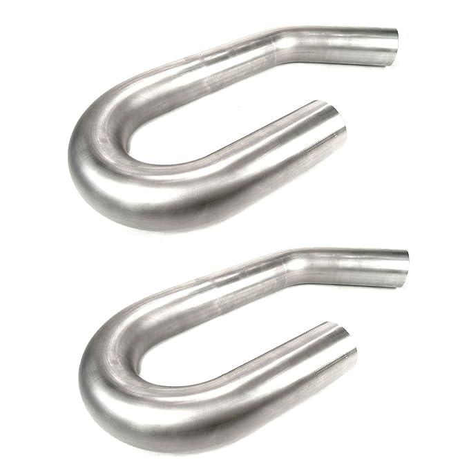 """Mandrel U Bend Exhaust Tubing 3/"""" 180 Degree 16ga 409 Stainless Steel MBS"""
