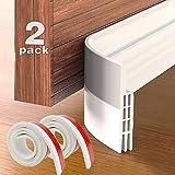 Grotheory 2 Pack Door Draft Stopper Under Door Seal, Door Sweep for Exterior & Interior Doors, Door Draft Blocker Dust and No