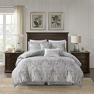 Harbor House Hallie Comforter Set, Grey