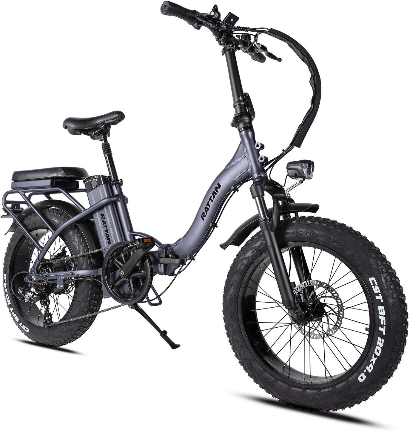 Rattan Fat Tire Electric 7-Speed Adult Folding Bike