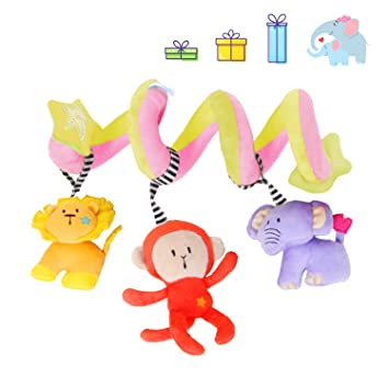 Amazon.com : labebe Car Seat Toy, Hanging Toy for Baby with Elephant ...