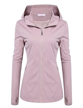 Amazon.com  Mofavor Women s Lightweight Hooded Windbreaker Waterproof Rain  Jacket  Clothing eca12e0589