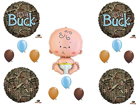 Amazon Its A Buck Camouflage Baby Boy Shower Balloons