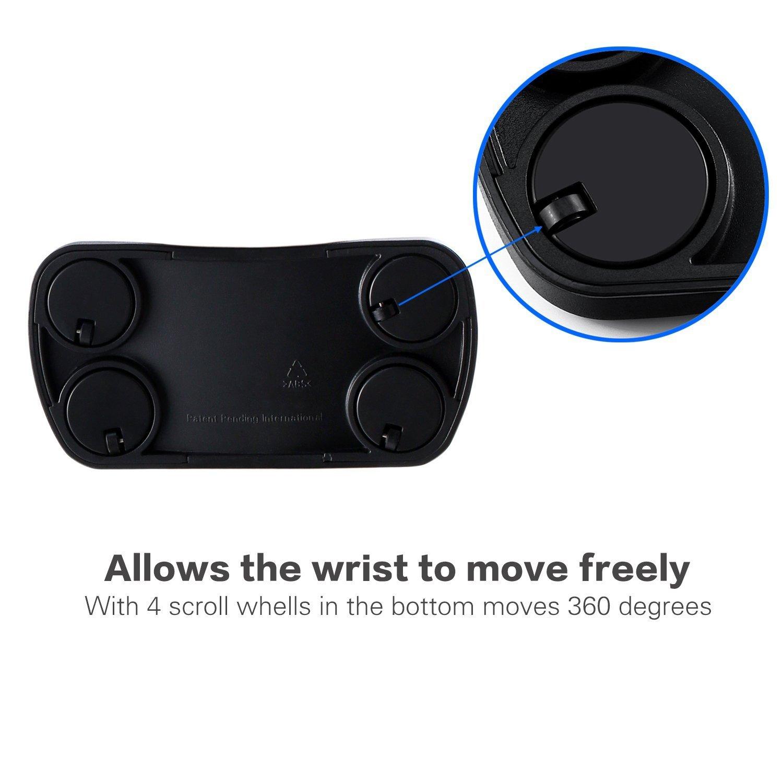 EV Cuscino da Polso per Mouse con rotelle scorrevoli