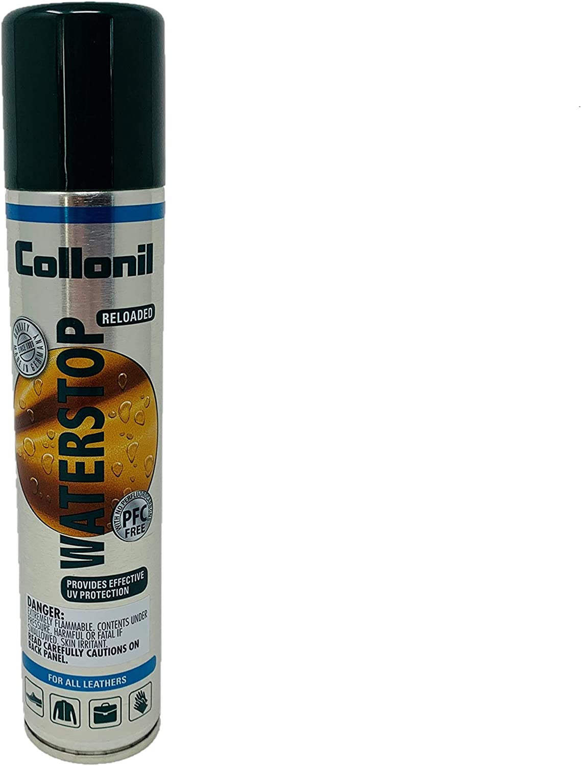 Collonil Waterstop Spray 200ml - Premium Protecting Spray Specially Designed To Protect Shoes and Handbags - New PFC Free Formula with UV Filter- Good for ALL MATERIALS– Made In Germany: Shoes