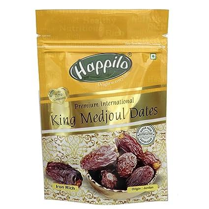 Happilo Premium International King Medjoul Dates, 200g (Pack of 5)