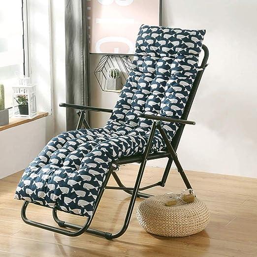 Cojín para tumbonas de jardín reclinable cojín grueso relajante colchón respaldo alto silla mecedora asiento de ratán almohadillas de repuesto para jardín, oficina, hogar: Amazon.es: Jardín