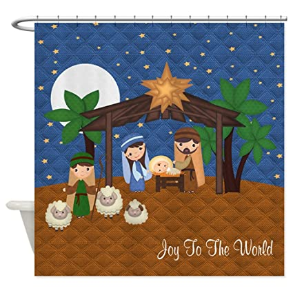 Amazon CafePress Nativity Scene Shower Curtain Decorative
