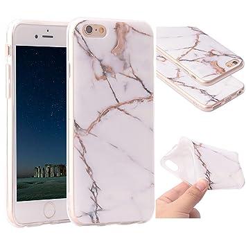 Funda iPhone 6s Marmol, ZXK CO Carcasa de Silicona Suave Case Cover Protección cáscara Soft Gel TPU Carcasa Funda para Apple iPhone 6/6S 4,7