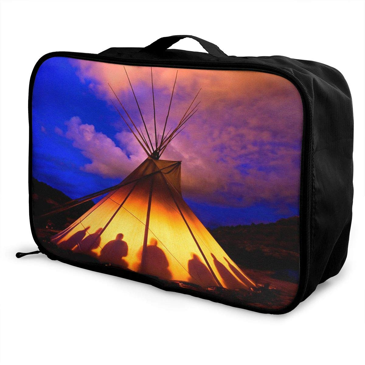 Native American Church Pattern Travel Bag Best Luggage Bags Duffle Bag Large Capacity Travel Organizer Bag