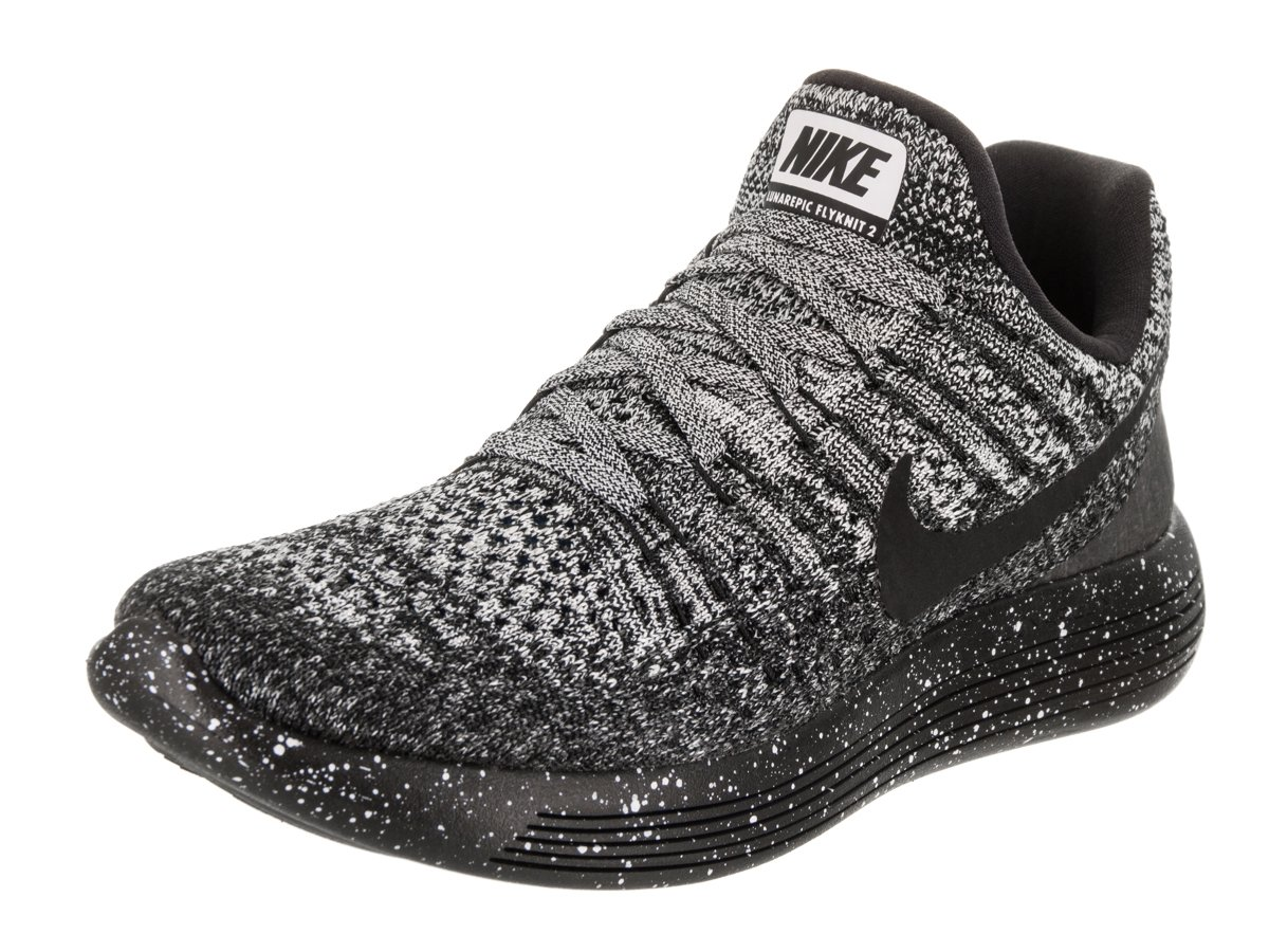 NIKE Women's Lunarepic Low Flyknit 2 Running Shoe B0763RVRD6 9.5 B(M) US|Black/Black-white-racer Blue