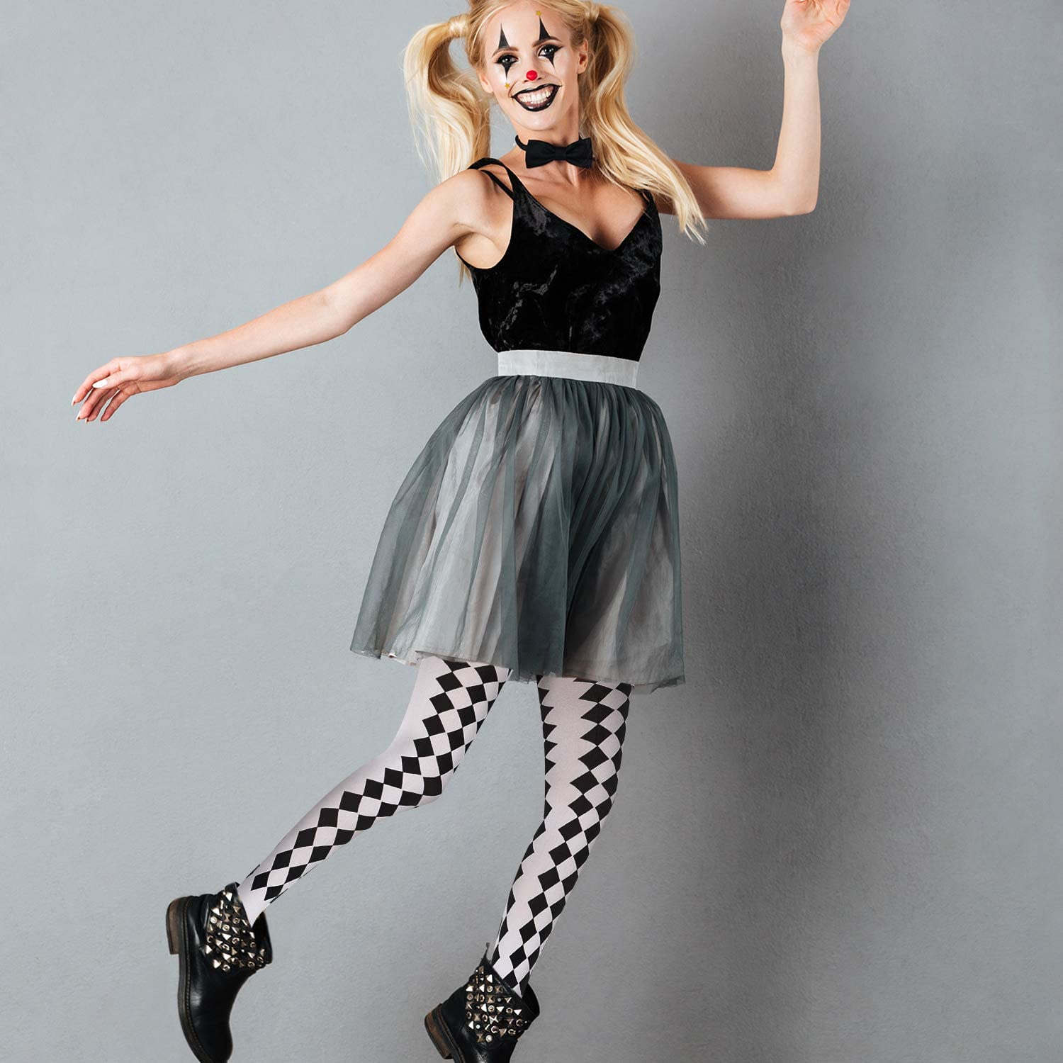 3 Pairs Halloween Striped Tights Full Length Tights Stockings for Women Girls Style 7