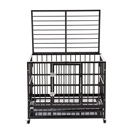 Brilliant Silverylake Heavy Duty Xl Dog Crate Kennel Playpen Pen Homey Pet Animal With Tray And Wheels Machost Co Dining Chair Design Ideas Machostcouk