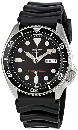 c91d0b1c0 Seiko Men's Analogue Automatic Watch with Rubber Strap SKX007K1 ...
