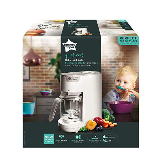 Tommee Tippee Quick Cook Baby Food Blender White