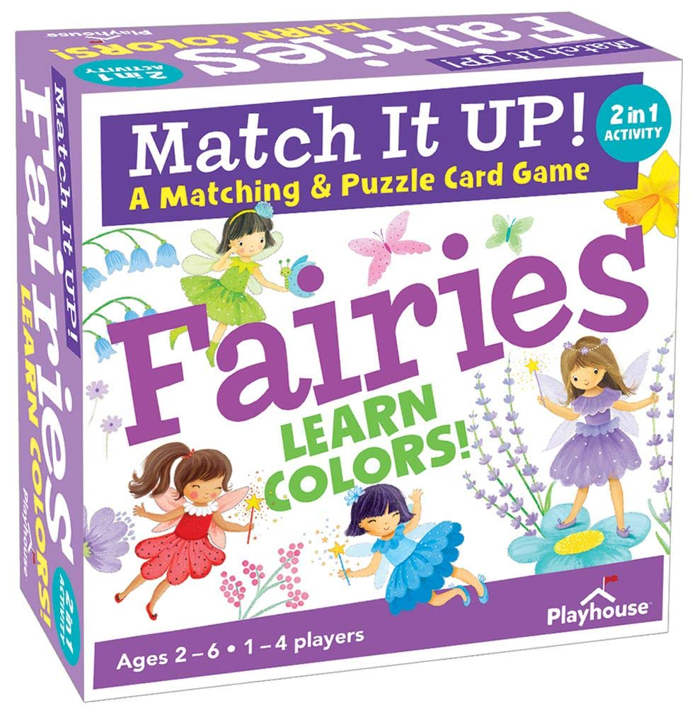 Playhouse Match it UP! Flower Fairies Color Matching and Puzzle Card Game for Kids
