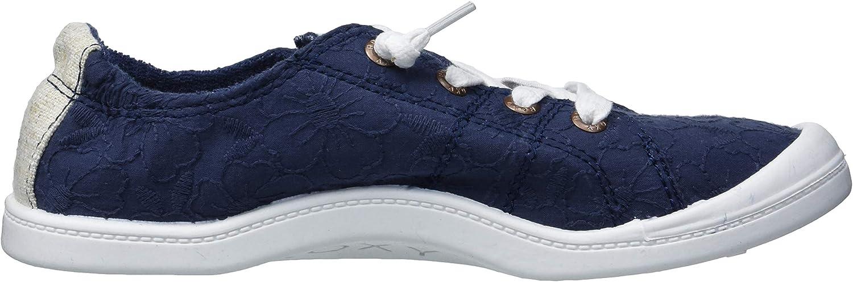 Roxy Damen Bayshore Slip On Shoe Sneaker Turnschuh, schwarz, Medium Blau