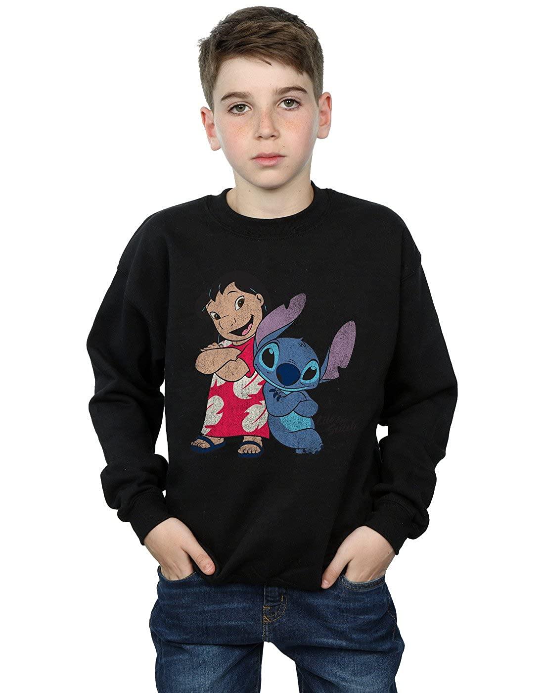 Disney Boys Lilo & Stitch Classic Lilo & Stitch Sweatshirt Absolute Cult