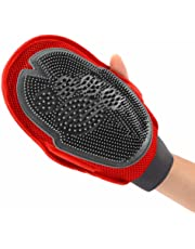 2 in 1 Dog and Cat Pet Grooming Brush Glove for Long and Short Hair Grooming of Dogs, Horses, Bunnies & Some Agreeable Cats, Pet Massage & Bathing Brush & Comb (1 Piece)