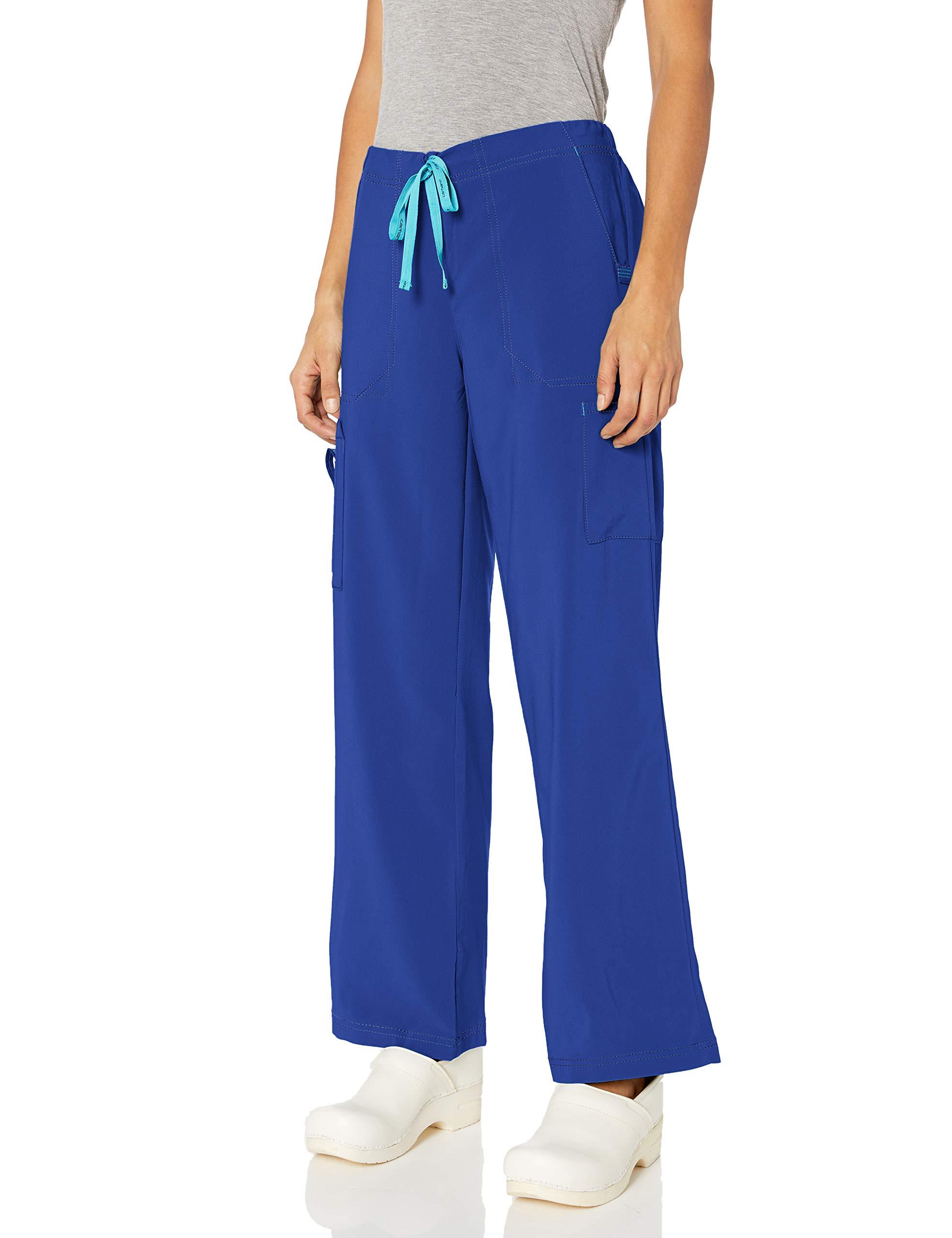 Carhartt Women's Petite Utility Boot Cut Cargo Pant Galaxy Blue XLP