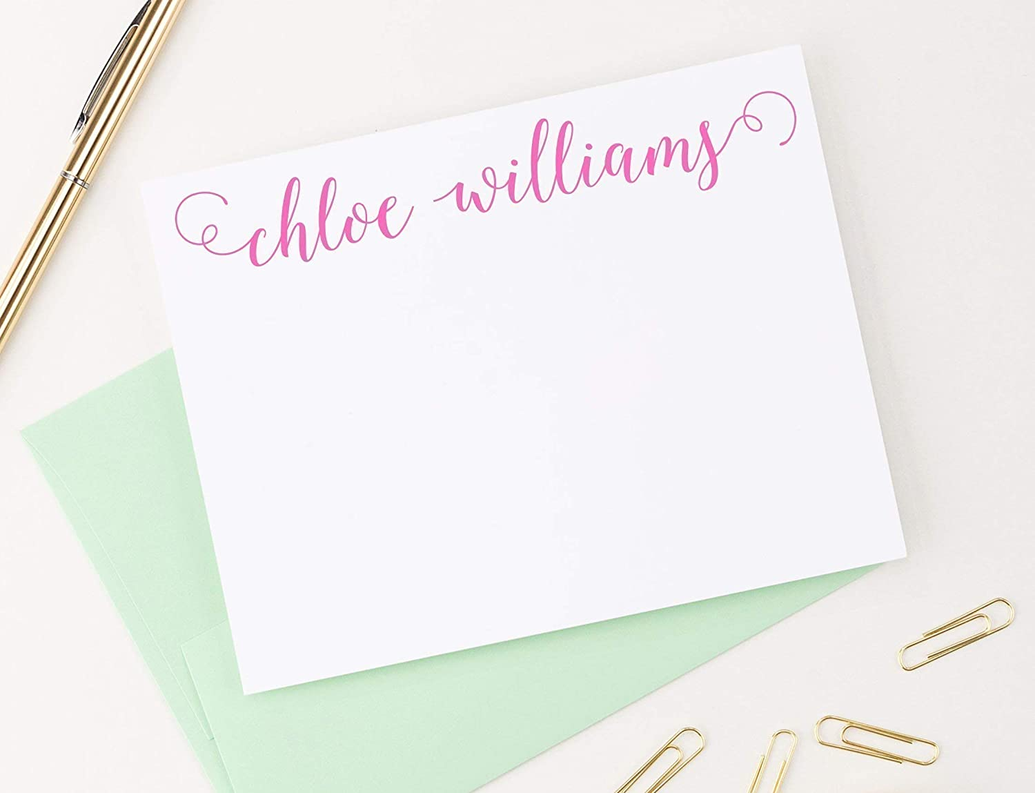 Stationary Set From The Desk Of Thank You Notes Card Sets Personalized Note Cards Thank You Cards Personalized Stationery Set