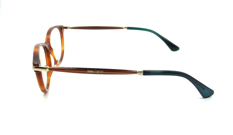 ac601ace7ae8 Amazon.com  Jimmy Choo Rx Eyeglasses Frames JC 153 QAN 52-15-140 Havana  Glitter Brown Italy  Clothing
