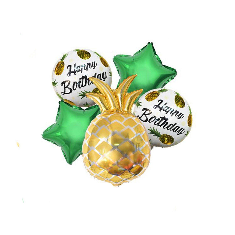 Amazon.com: Processes Gold Pineapple Foil Balloons Fruit ...