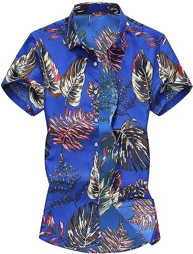 Camisetas Hombre Manga Corta Suelto Camisetas Hombre Originales Moda Camisas Hawaiana Hombre Moda Camisa De Solapa Camisetas De Vacaciones Casual Blusas De Playa Camiseta Impresion Hombre T-Shirt: Amazon.es: Ropa y accesorios
