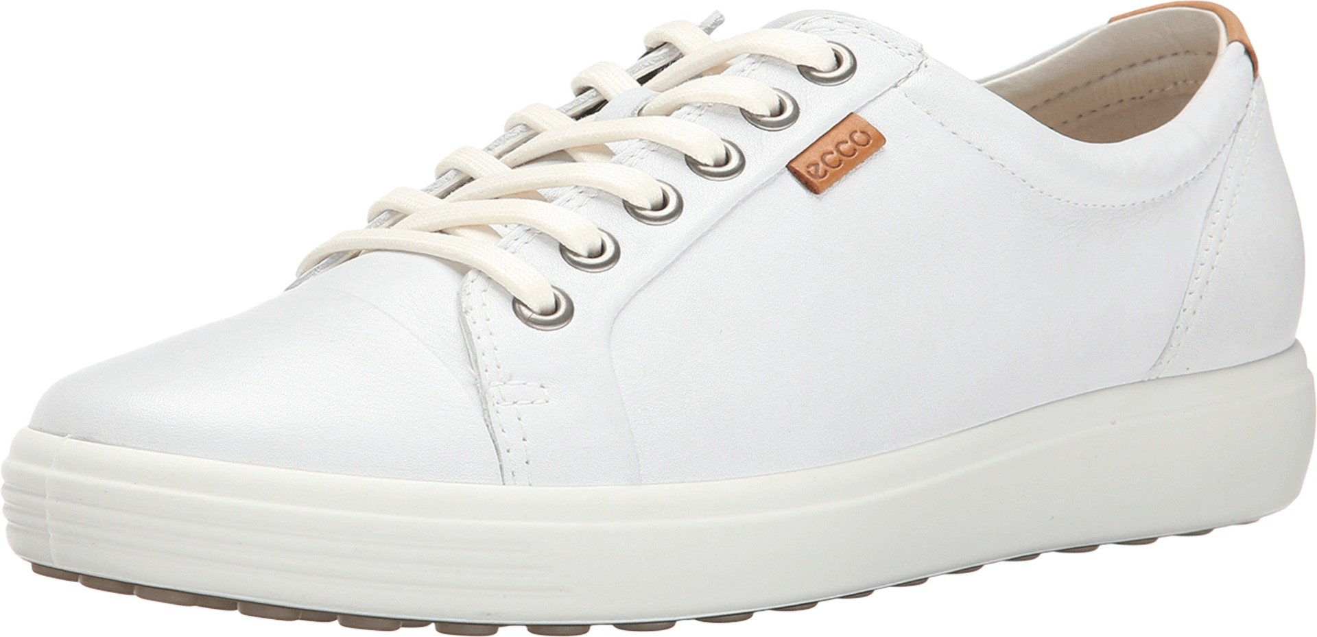 ECCO Footwear Womens Soft VII Fashion Sneaker, White, 37 EU/6-6.5 M US