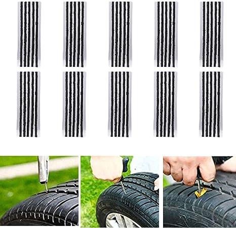 Cicmod 50 Pcs 8 Zoll Reifen Reparatur Saiten Für Tubeless Off Road Reifen Auto Fahrrad Atv Utv Schubkarre Mähwerk Auto
