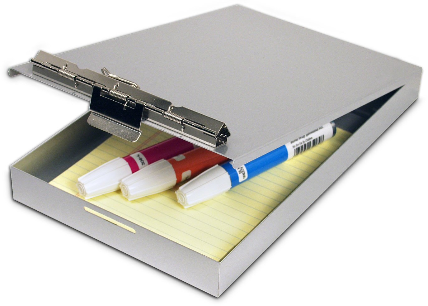 Amazon.com : Saunders Aluminum Redi Rite Storage Clipboard   Form Holder  With 1 Inch Storage Compartment, Self Locking Latch. Office Supplies :  Metal ...